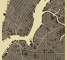 NEW YORK MAP by JazzberryBlue