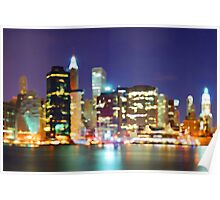 New York City Colorful Skyline Poster