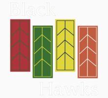 Black Hawks (reverse colors) Kids Clothes