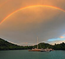 Rainbow over Biras Creek by Leon Heyns