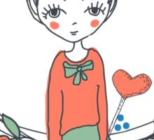 hand-drawn Love Sticker