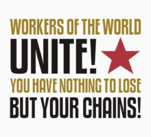 Workers of the World Unite Slogan Stickers by NeoFaction
