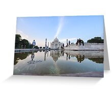 India, Agra, The Taj Mahal Greeting Card