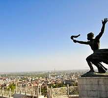 Torch Bearer Statue at the independence memorial, Budapest, Hungary  by PhotoStock-Isra