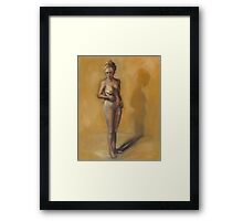 Painting of a woman after breast removal surgery (mastectomy) Framed Print