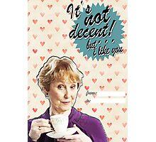 Mrs. Hudson Valentine's Day Card Photographic Print