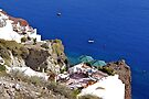 Santorini cliffside ! by Nancy Richard