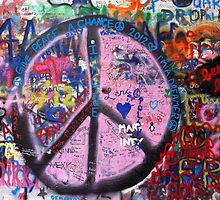 Prague John Lennon Wall by Charlotte  Wells