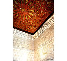 A beautiful cornice in the Alhambra Photographic Print