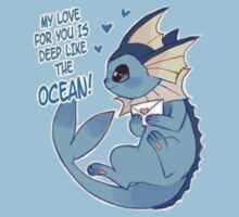 Vaporeon Valentine's Day Card by everlander