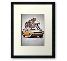 Comeback 70s - Oldtimer Car Framed Print