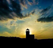 Sunset behind the Lighthouse by LacoHubaty