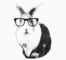 Rabbit Geek Glasses T-Shirt by Jelly-Bean
