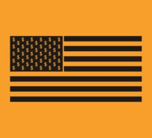 The Wolf Of Wall Street Flag - Black by MrDave888