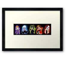 Pretty Lil' Villains Framed Print