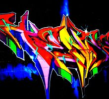 "Classic Graffiti on a ""Permission Wall"" by Schoolhouse62"