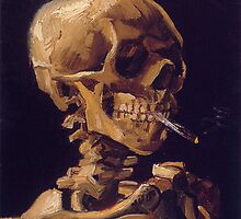 Vincent Van Gogh's 'Skull with a Burning Cigarette'  by Roz Abellera