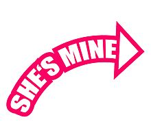 She's Mine Arrow Logo by Style-O-Mat