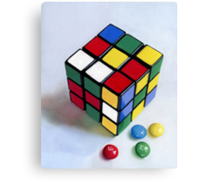 Rubik's Cube pastel painting Canvas Print