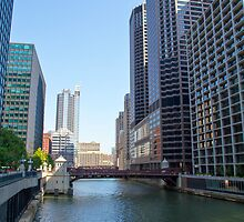 The Chicago River in downtown Chicago, Illinois, USA  by PhotoStock-Isra