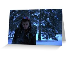 Cold smoke Greeting Card