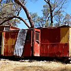 Old guards van on a hill top in Metcalfe Victoria by Ronald Rockman