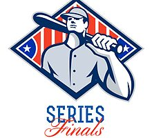 Baseball Divisional Series Finals Retro by patrimonio