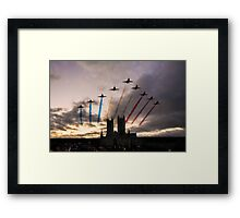 Red Arrows over Lincoln Cathedral Framed Print