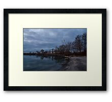 Early, Still and Transparent - on the Shores of Lake Ontario in Toronto Framed Print
