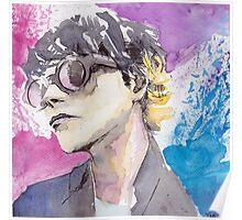 Gerard Way Art Is Smart Portrait  Poster