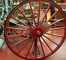 Wagon Wheel - Antique Fire Wagon by Jane Neill-Hancock