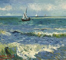 Seascape near Les Saintes-Maries-de-la-Mer by Vincent van Gogh by TilenHrovatic