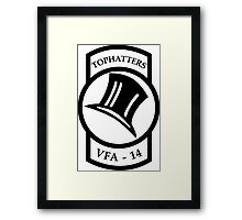 VFA - 14 Fighter Squadron - TOPHATTERS Framed Print