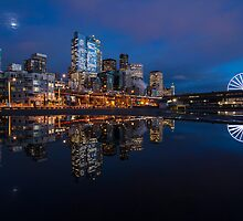 Seattle Cityscape Reflection by mikereid