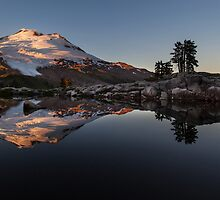 Mount Baker Tarn Reflection by mikereid