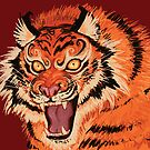 Beautiful Tiger Ferocity  by Razvan-Sedekiah