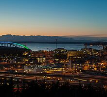 Seattle South Sunset Panorama by mikereid