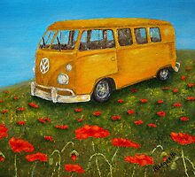 Vintage VW Bus by Allegretto