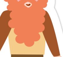 Cartoon Viking Sticker