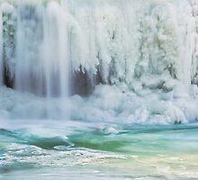 Icy Waterfall by Kenneth Keifer