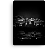 Toronto Canada Skyline At Sunset From The Pape St Bridge Canvas Print