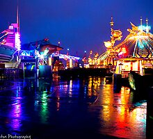 Discoveryland at Night (Disneyland Paris) by ThatDisneyLover