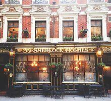 sherlock holmes restaurant by cocosuspenders