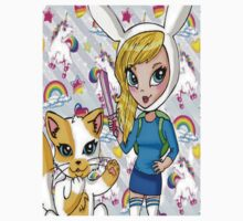 Fionna and Cake + Lisa Frank  by TayTees