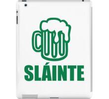 Green irish beer sláinte iPad Case/Skin