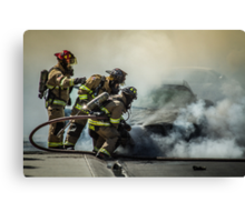 Fire Men Canvas Print