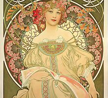 'Obraz' by Alphonse Mucha (Reproduction) by Roz Abellera