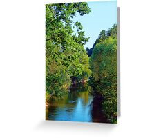 A summer evening along the river III | waterscape photography Greeting Card