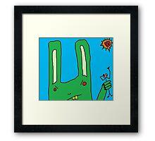 """""""Big Bad Bunny"""" by Richard F. Yates Framed Print"""