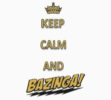 Keep calm and bazingaaa! Kids Clothes